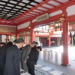 波上宮で正式参拝